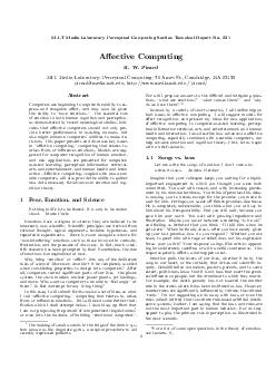 MIT Media Laboratory Perceptual Computing Section Technical Report No