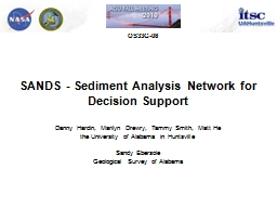 SANDS - Sediment Analysis Network for Decision Support