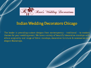 Indian Wedding Decorators Chicago