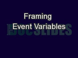 Framing Event Variables