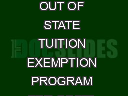 FLORIDA COSTA RICA LINKAGE INSTITUTE FLORIDA COSTA RICA LINKAGE INSTITUTE FLORICA OUT OF STATE TUITION EXEMPTION PROGRAM FOR COSTA RICAN STUDENTS The Legislature of the State of Florida created Inter