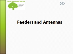 Feeders and Antennas