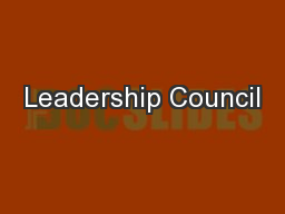 Leadership Council