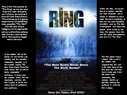 "This is the film poster of ""The Ring"", as we can see th"