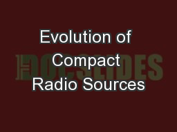Evolution of Compact Radio Sources