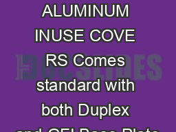 DIECAST ALUMINUM INUSE COVE RS Comes standard with both Duplex and GFI Base Plate