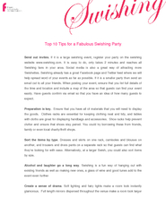 Top 10 Tips for a Fabulous Swishing Party