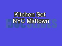 Kitchen Set NYC Midtown