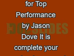 Crystal Reports  Tests for Top Performance by Jason Dove It is complete your masterpiece report