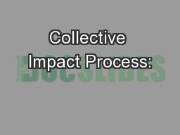 Collective Impact Process: