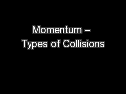 Momentum – Types of Collisions