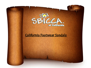 California Footwear Sandals PowerPoint PPT Presentation