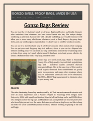 Gonzo Bags Review