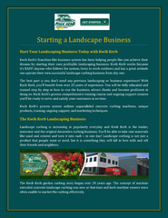 Starting a Landscape Business