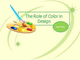 The Role of Color in Design PowerPoint PPT Presentation