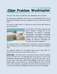 Odor Problem Washington