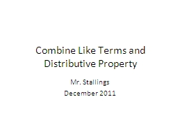 Distributive property and combining like terms doc