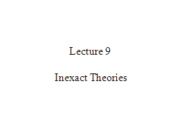 Lecture 9 PowerPoint PPT Presentation