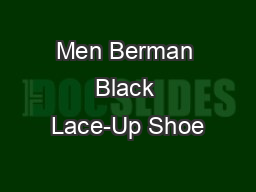 Men Berman Black Lace-Up Shoe