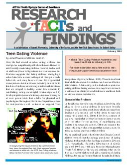 Teen Dating Violence by Jane Powers and Erica Kerman February  Continued on page  Over the last several decades dating violence has emerged as a significant public health issue