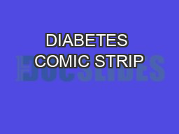 DIABETES COMIC STRIP