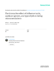 The Interactive Effect of Influence Tactic,