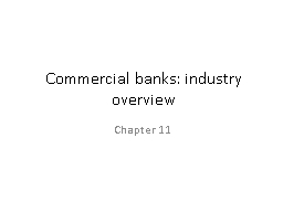 Commercial banks: industry overview