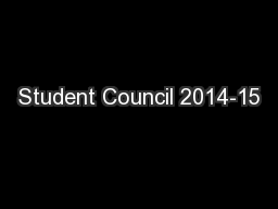 Student Council 2014-15