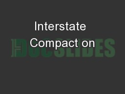 Interstate Compact on