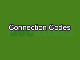 Connection Codes