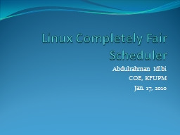 Linux Completely Fair Scheduler