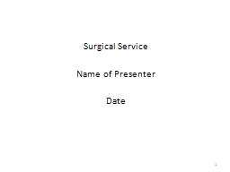 Surgical Service