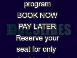 STA Travels exclusive airfare deposit program BOOK NOW PAY LATER Reserve your seat for only  Avoid paying high priced lastminute airfare