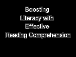 Boosting Literacy with Effective Reading Comprehension