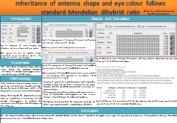 Inheritance of antenna shape and eye PowerPoint PPT Presentation