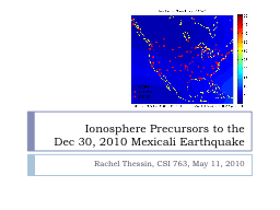 Ionosphere Precursors to the