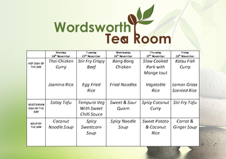 WORDSWORTH TEA ROOM MENU PowerPoint PPT Presentation