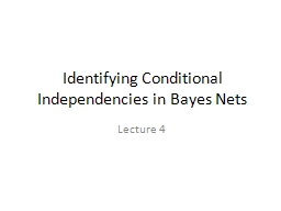 Identifying Conditional Independencies in