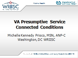 VA Presumptive Service Connected Conditions PowerPoint PPT Presentation