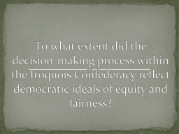 To what extent did the decision-making process within the I