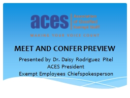MEET AND CONFER PREVIEW