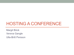 Hosting a conference