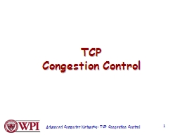 TCP Congestion Control PowerPoint PPT Presentation