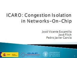 ICARO: Congestion Isolation in Networks-On-Chip