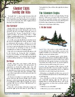 Q  Saving the Kits is a short sample adventure that will help you to get a feel  PDF document - DocSlides
