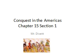 Conquest in the Americas PowerPoint PPT Presentation