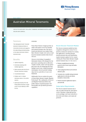 Australian Mineral TenementsOVERVIEWPitney Bowes Business Insight prov
