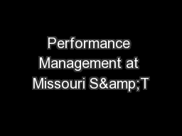 Performance Management at Missouri S&T PowerPoint PPT Presentation