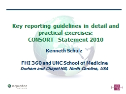 Key reporting guidelines in detail and practical exercises: