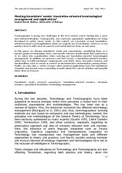 The Journal of Specialised Translation